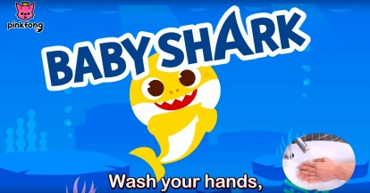 Lava tus manos a ritmo de Baby Shark