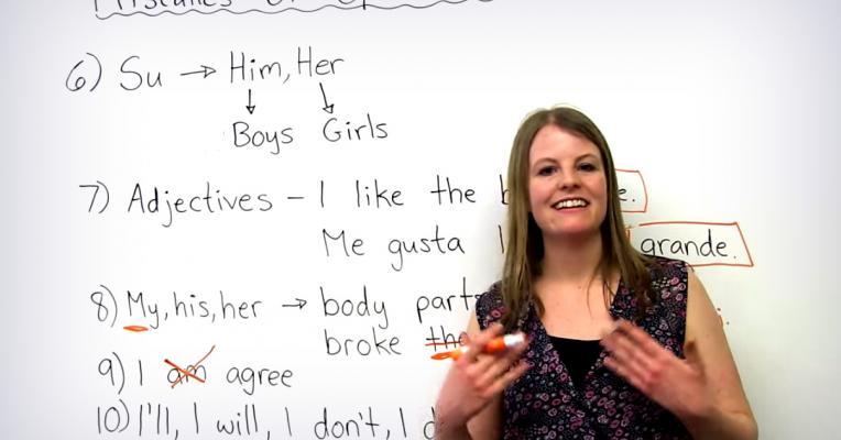 Los 10 errores más comunes en inglés
