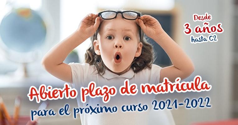 Abierto el plazo de matrícula para el próximo curso 2021-2022