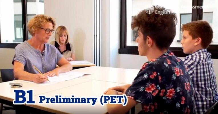 Ejemplos de exámenes orales de Cambridge. B1 Preliminary (PET)