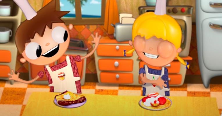 Aprende a cocinar pizza y tortitas con Telmo y Tula. Eso sí... ¡en inglés!